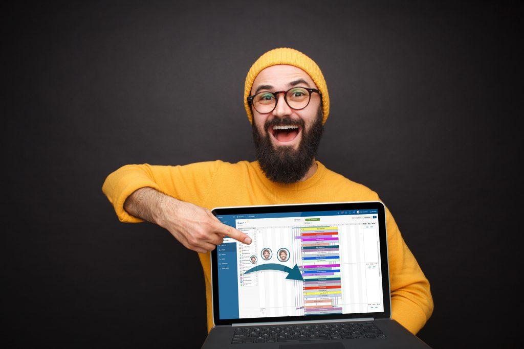 Planung Mann mit Laptop